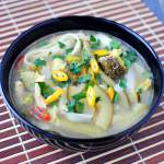 Zupa kokosowa z zielonych warzyw