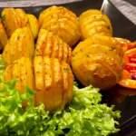 Pieczone ziemniaczki harmonijkowe