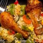 Zapiekanka ryżowo-warzywna z kurczakiem