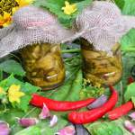 Ogórki z chilli i miodem