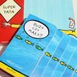 Duży czy mały? i Super tata, czyli schodkowe książeczki dźwiękonaśladowcze Hervé Tulleta – recenzja