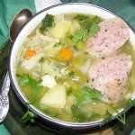 zupa jarzynowa z białą kiełbasą…