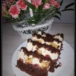 CZEKOLADOWO- ŚMIETANKOWE ciasto z owocami