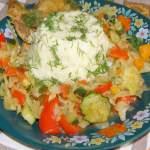 kasza jaglana z warzywami i piersią kurczaka na ostro…