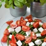 Sałatka z fasolki szparagowej i sera feta