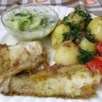 dorsz atlantycki z patelni z ziemniakami na obiad…