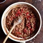 Czekoladowe risotto z granatem