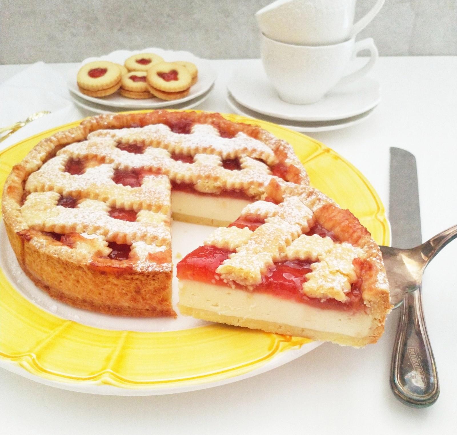 Tarta sernikowa z dżemem (Crostata di ricotta e marmellata)