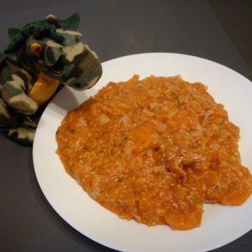 Ryż w sosie pomidorowo-marchewkowym