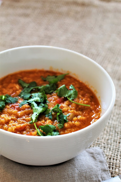 Red Lentil Dhal – hinduska 'zupa' z czerwonej soczewicy
