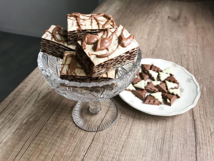 Andruty waflowe z kremem kakaowym i polewą