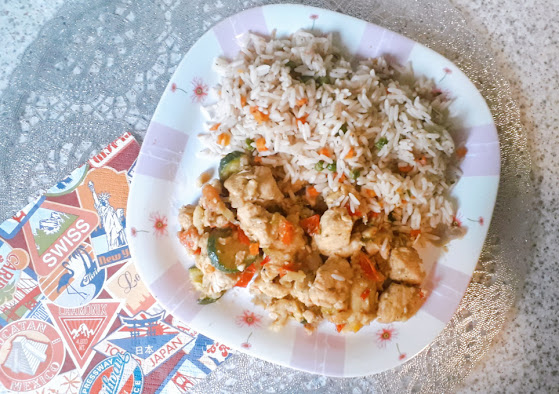 Kurczak z warzywami w stylu greckim