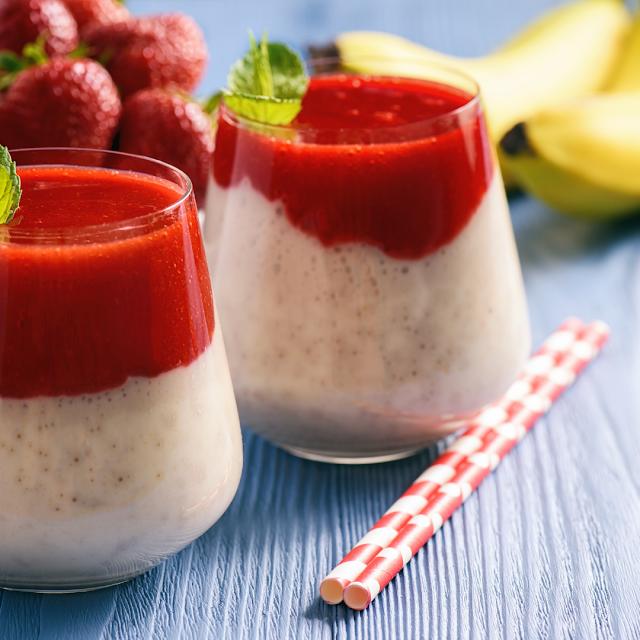 Fit deser jogurtowo-bananowy