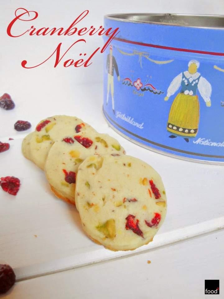 Cranberry Noël – kruche ciasteczka świąteczne z żurawiną i pistacjami