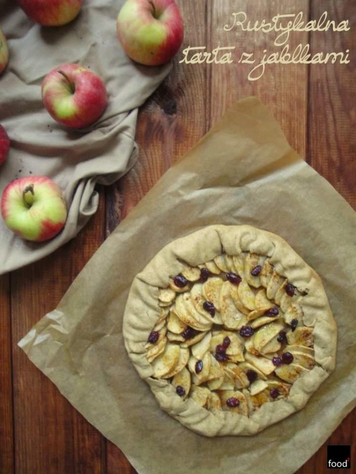 Rustykalna tarta z jabłkami
