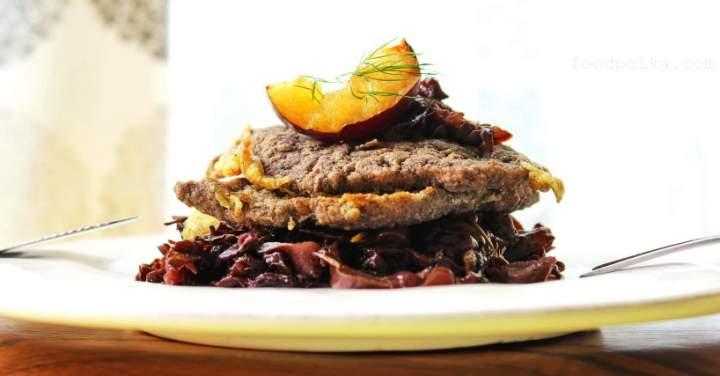 Pork schnitzel breaded in buckwheat as guiltless pleasure
