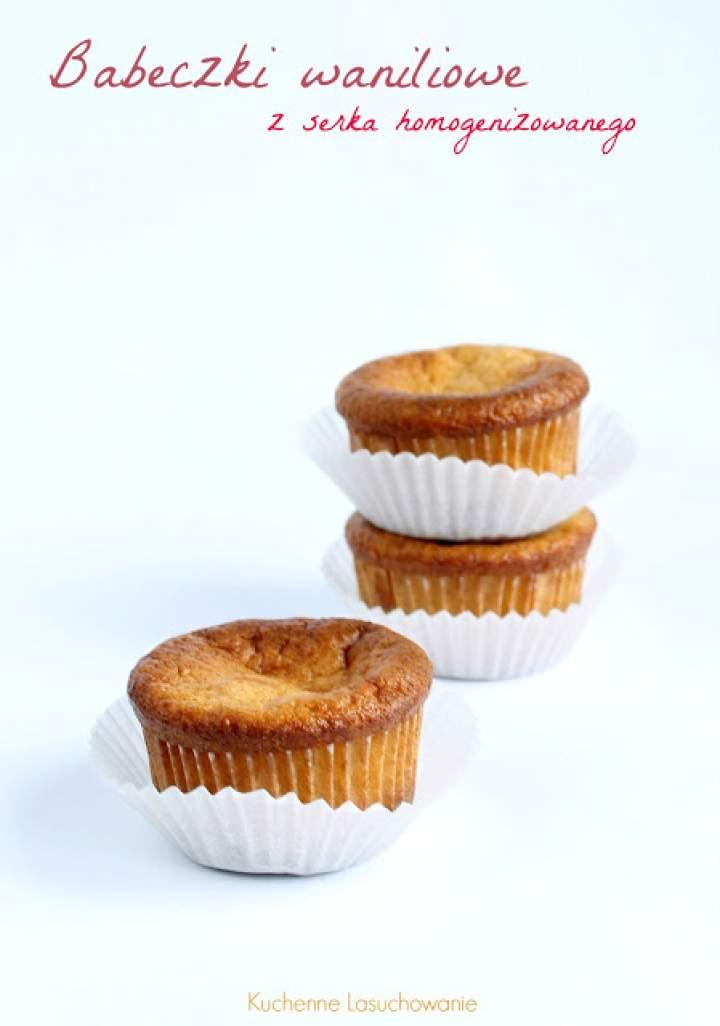 Muffinki waniliowe z serka homogenizowanego