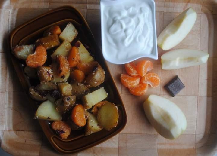 851. Karmelizowane mandarynki i… ziemniaki?