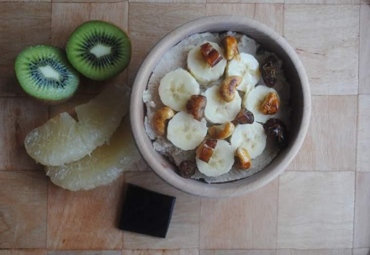 860. Kokosowo- waniliowy krem z fasoli z bananem