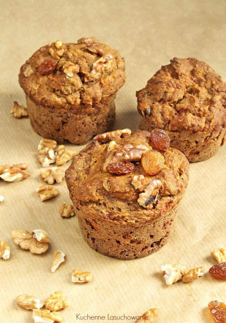 Pełnoziarniste muffinki marchewkowe
