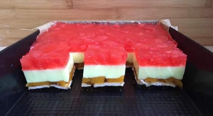 Ciasto owocowo-galaretkowy przekładaniec