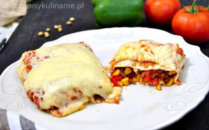 Zapiekane krokiety po meksykańsku z tortilli