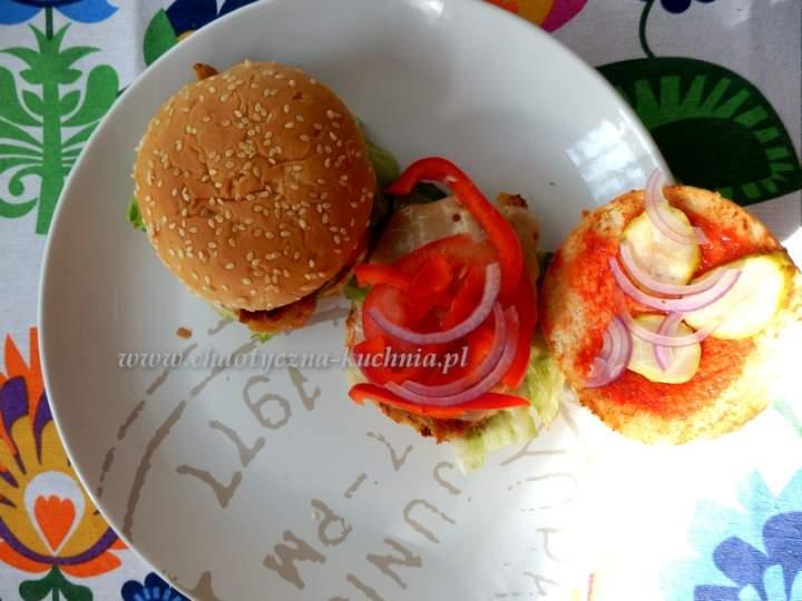 Domowe kurczakburgery
