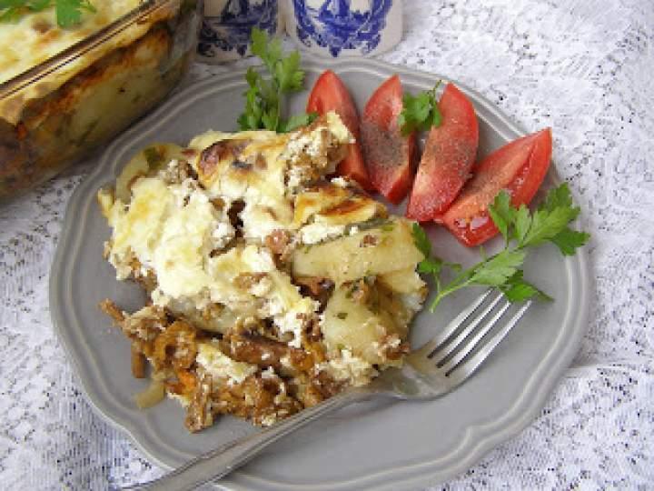 ziemniaki z kurkami z piekarnika na syty obiad…