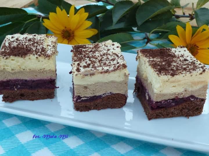 Ciasto wiśniowo-kawowo-alkoholowe (z advocatem)