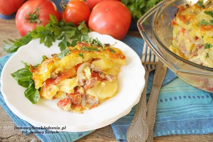 zapiekanka z pomidorami