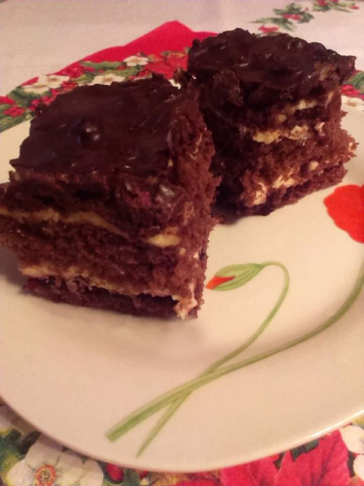 Ciasto czekoladowo – rodzynkowe p. Grażyny – danie konkursowe