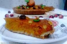 Amerykańskie ciasto dyniowe (American Pumpkin Pie) z pomarańczą i marcepanem.