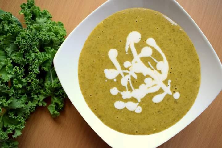Zupa krem z jarmużu – wegańska :)