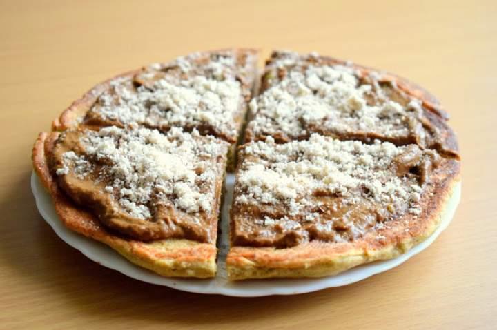 Gryczany omlet z kakaowym kremem :)