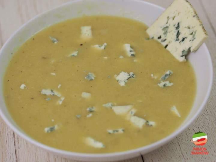 Zupa krem z porów z serem pleśniowym