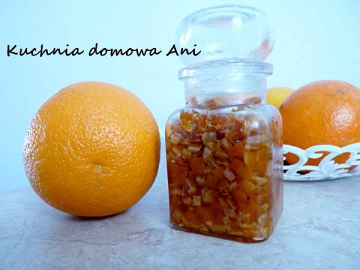 Skórka pomarańczowa zasypana cukrem