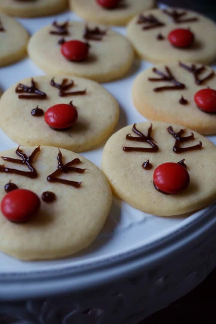 Waniliowe ciasteczka renifery