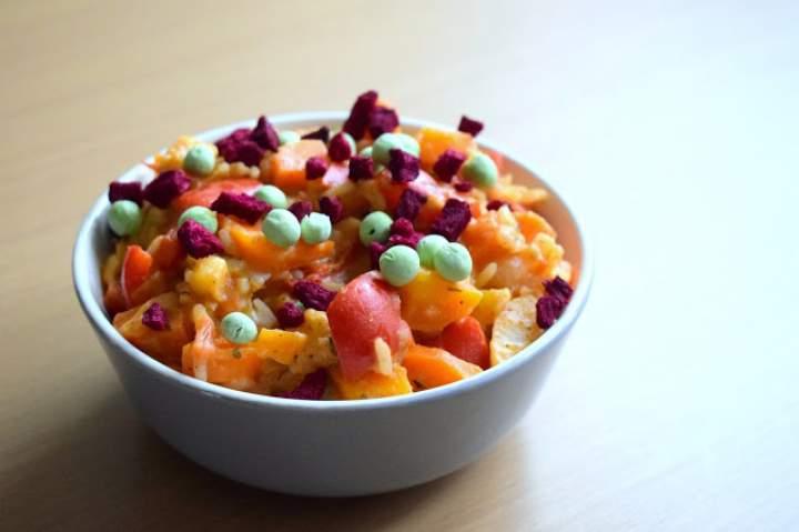 Pyszne warzywa z ryżem w sosie sezamowym :)