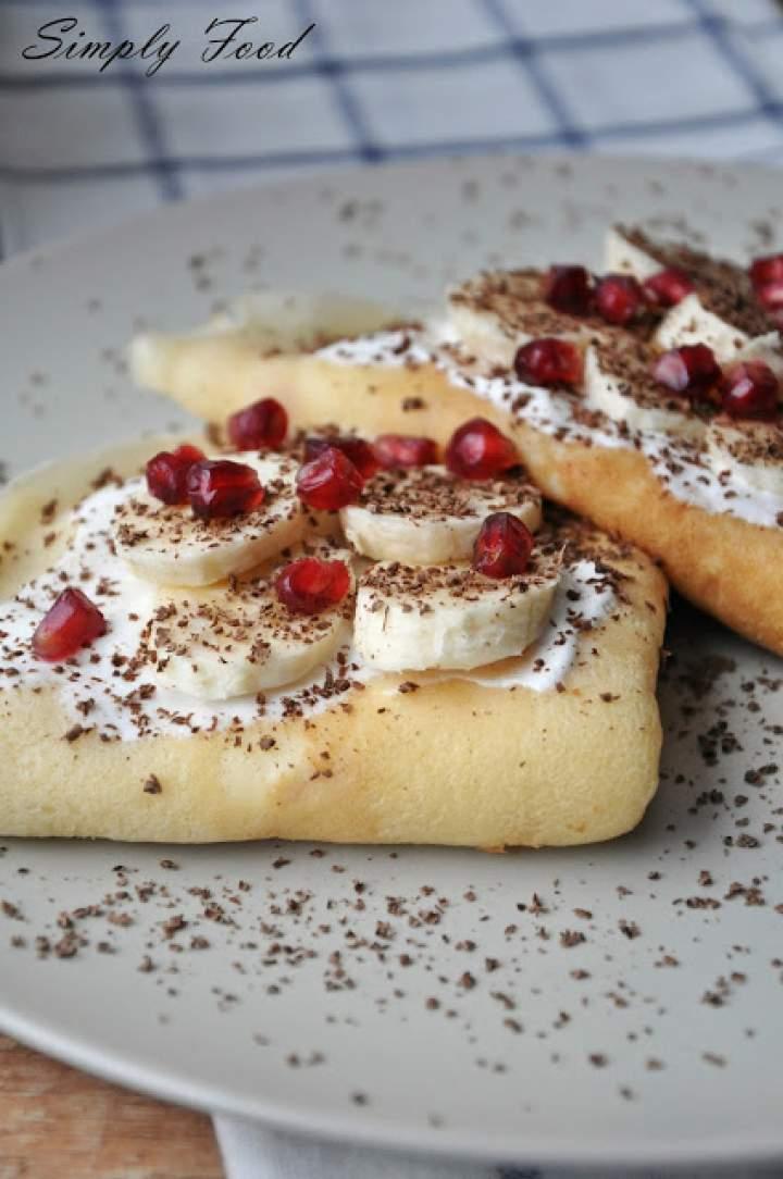 Naleśniki z serem i bananami