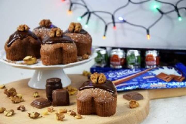 Muffinki czekoladowo-piernikowe