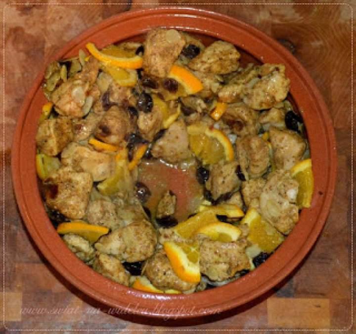 Kurczak ras el hanout z marynowanymi pomarańczami