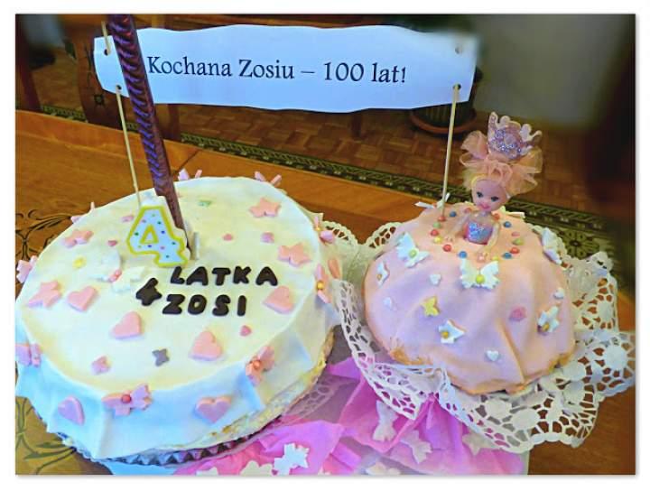 Tort na 4 latka Zosi