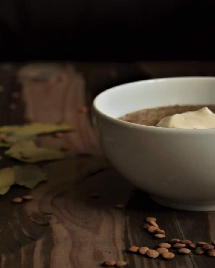 Zupa-krem z zielonej soczewicy