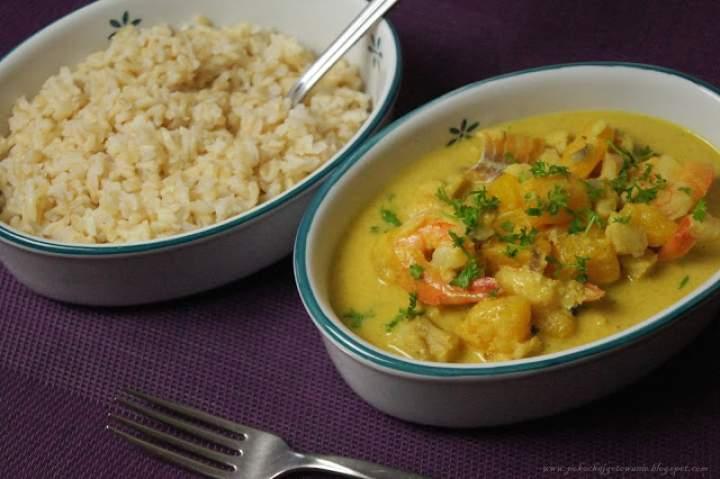 Curry rybno-krewetkowe