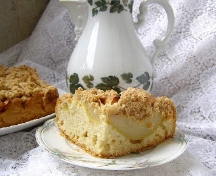 ciasto na oleju jabłkowo-gruszkowe z cynamonową kruszonką…