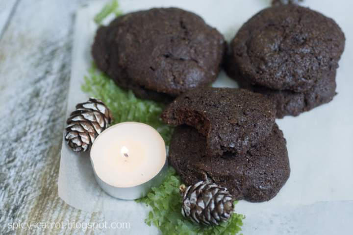 Gryczane ciastka czekoladowo-kawowe (bezglutenowe)
