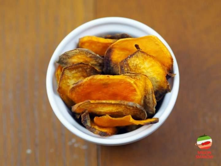 Pieczone chipsy z batatów