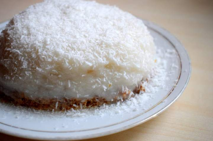 Wegański sernik kokosowy :)