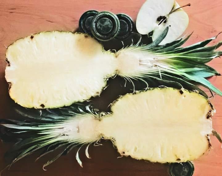 ananas + jabłko + cytryna + młody jęczmień