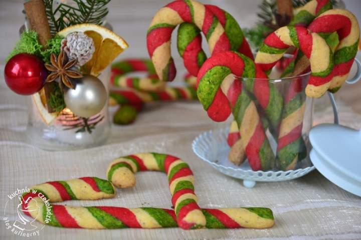 Kruche candy canes- świąteczne laski